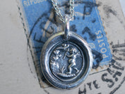 cupid wax seal pendant