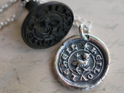 medieval owl wax seal jewelry