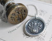 family crest wax seal necklace