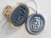 three graces wax seal jewelry