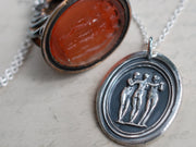 three graces wax seal pendant