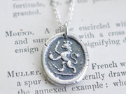 medieval lion wax seal necklace