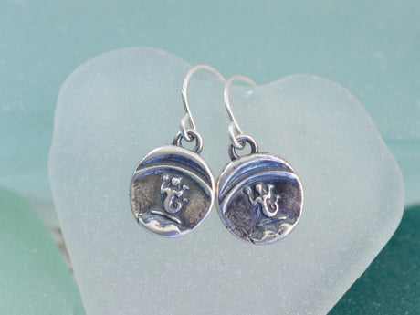 mermaid wax seal earrings - enchanting wax seal jewelry