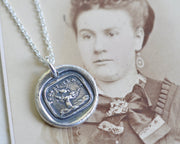 bird wax seal necklace
