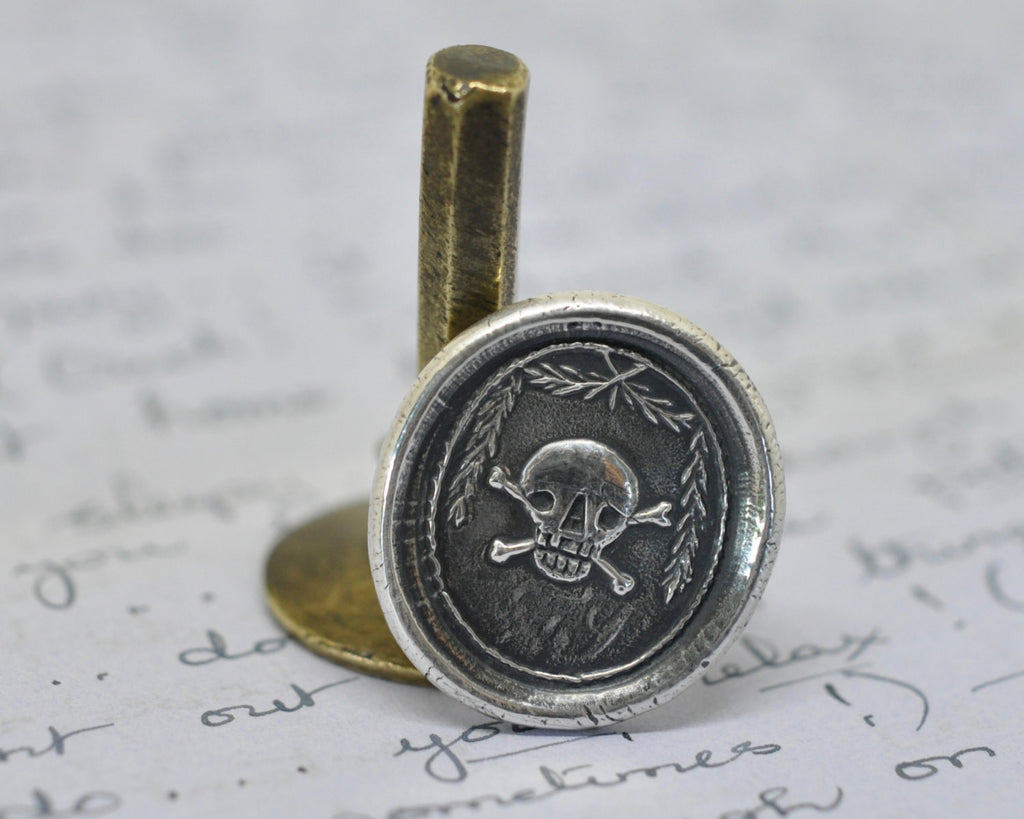skull and crossbones wax seal ring