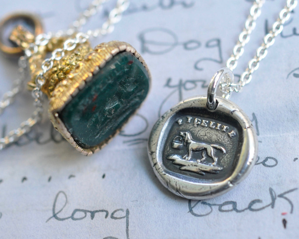 dog wax seal necklace