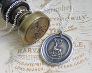stag deer wax seal necklace - peace and harmony - wax seal jewelry