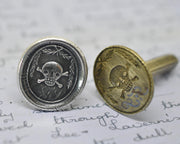skull and crossbones wax seal jewelry