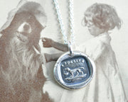 faithful dog wax seal necklace