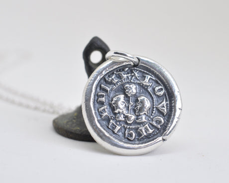 lovers posy wax seal necklace