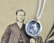 Prince Albert wax seal necklace