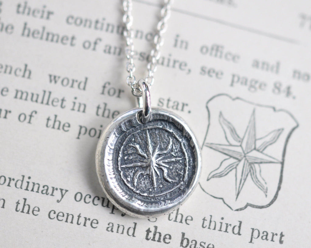 star wax seal necklace