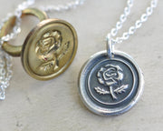 rose wax seal jewelry