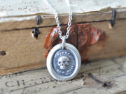 skull wax seal jewelry