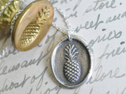 pineapple wax seal jewelry