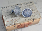 compass wax seal cuff links