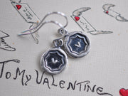 heart wax seal earrings