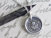 forget me not wax seal pendant