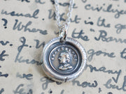 William Shakespeare profile wax seal necklace - wax seal jewelry