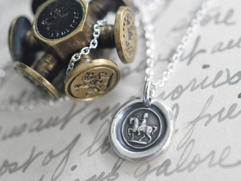 horse wax seal necklace