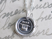 fare well wax seal pendant