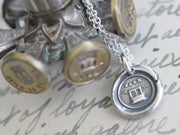 farewell wax seal necklace