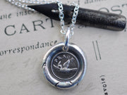 peace dove wax seal necklace