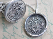 skeleton key wax seal jewelry