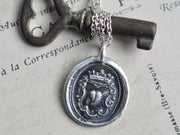heart wax seal pendant