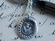 scottish thistle wax seal jewelry