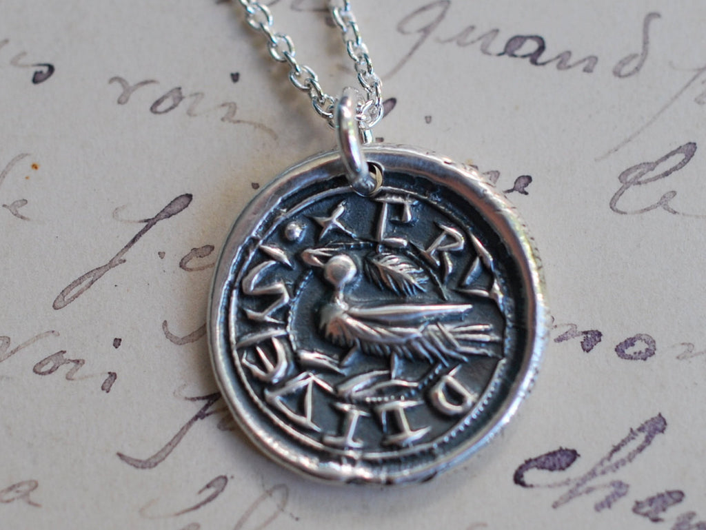 duck wax seal necklace
