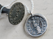 st. catherine wax seal necklace