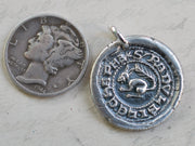 squirrel wax seal necklace - Ralph - medieval wax seal jewelry