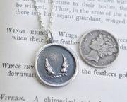 wings wax seal pendant