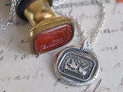 swan wax seal jewelry