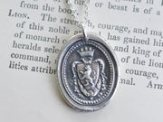 lion crest wax seal necklace