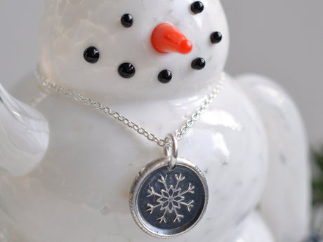 snowflake wax seal necklace