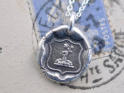 fist and flowers wax seal necklace - hope and joy - wax seal jewelry
