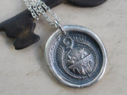 stone bridge and castle tower wax seal necklace - home sweet home