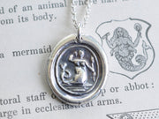 mermaid wax seal pendant