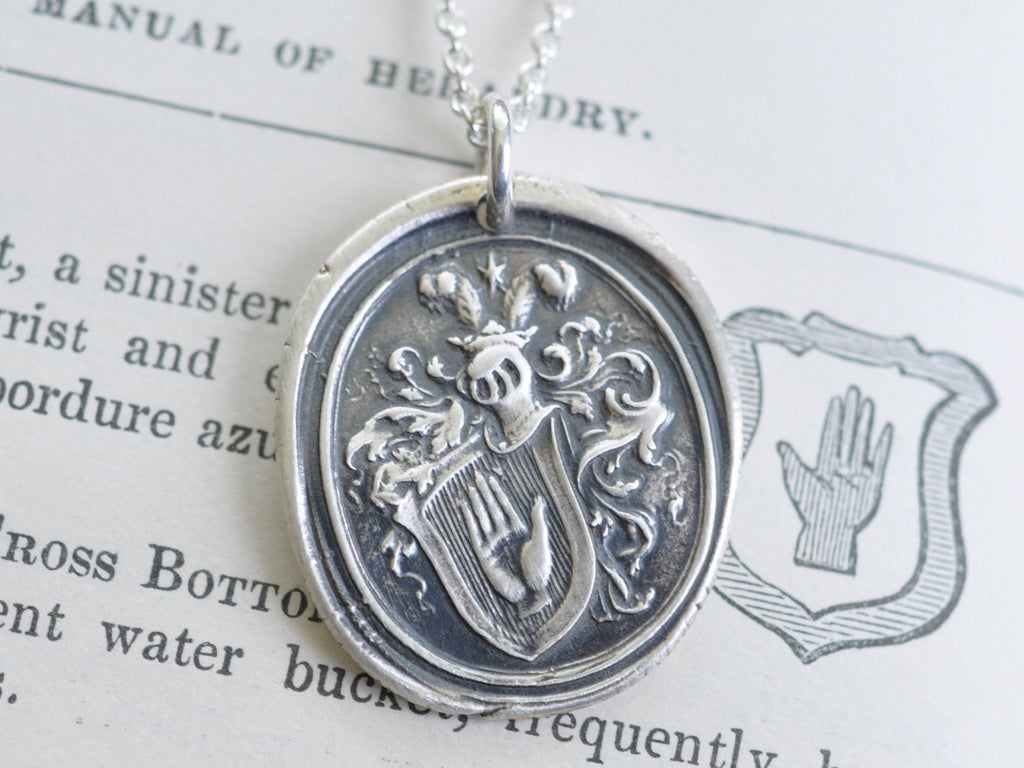 hand wax seal necklace