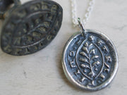 evergreen wax seal jewelry