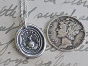 snail wax seal necklace - allways at home - wax seal jewelry