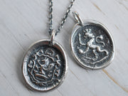 lion wax seal jewelry