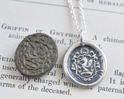 griffin wax seal pendant