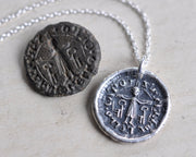 medieval saint peter wax seal jewelry