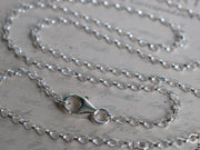 silver rolo necklace chain