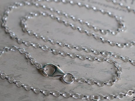 necklace chain - sterling silver rolo chain