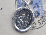 saint francis wax seal necklace