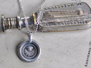 all seeing eye wax seal necklace - protection and guidance